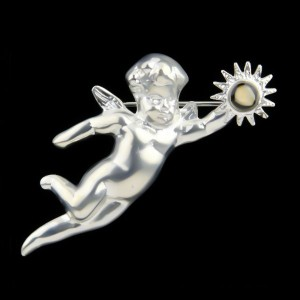 Guardian Angel Broach - Silver