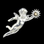 Guardian Angel Broach - Silver
